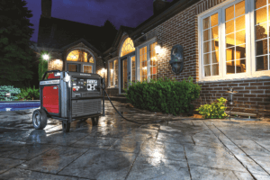 Honda generator plugged into a home as a backup