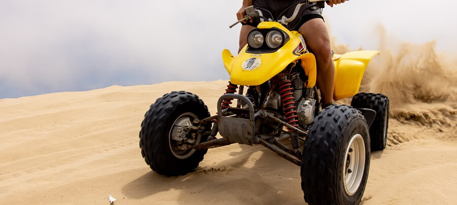 ATV in sand dune