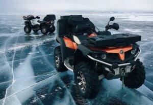 ATV on the ice