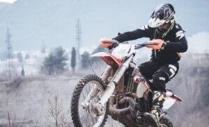 Person riding dirt bike